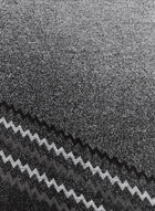 Zigzag Print Scarf, Grey, hi-res