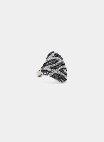 Diamond Shaped Ring, Black, hi-res