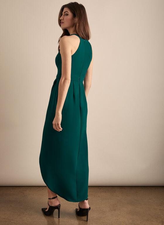 BA Nites - Faux Wrap Evening Dress, Green