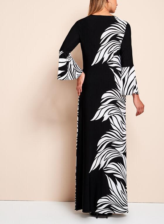 Frank Lyman - Abstract Floral Print Maxi Dress, Black, hi-res
