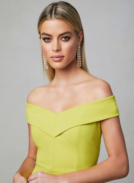 Off-the-Shoulder Dress, Yellow