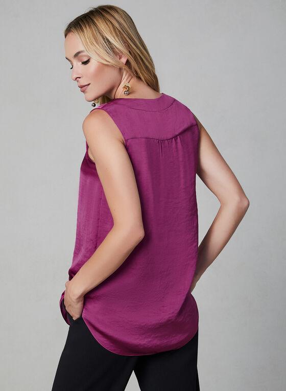 V-Neck Sleeveless Blouse, Pink