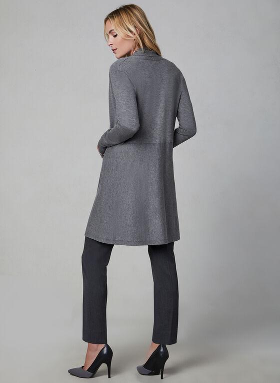 Shawl Collar Knit Cardigan, Grey
