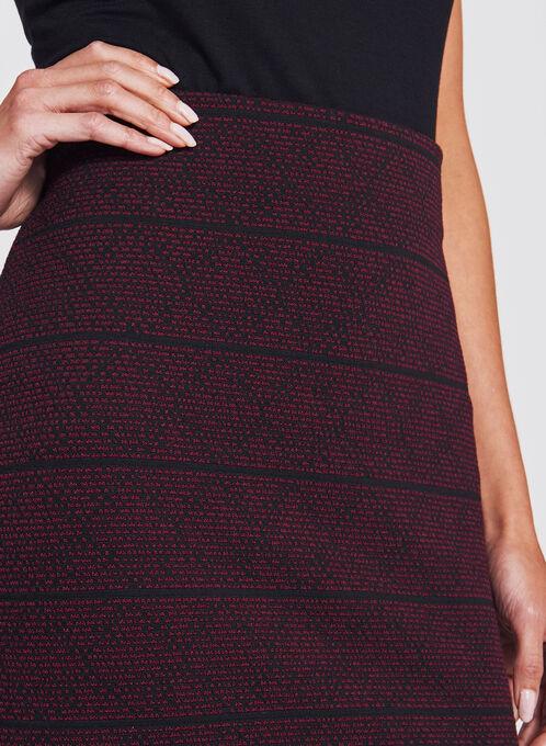 Ottoman Tweed Knit Pencil Skirt, Black, hi-res