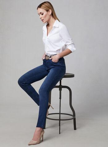 Simon Chang - Straight Leg Jeans, Blue, hi-res,  Simon Chang, denim pants, jeans, spring 2019