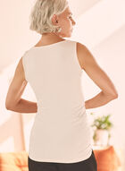 Sleeveless Jersey Top, Off White