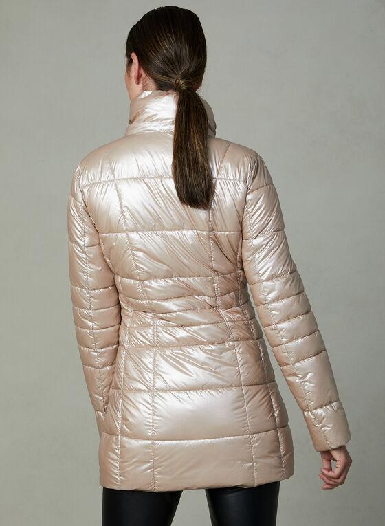 Karl Lagerfeld - Manteau matelassé à capuchon amovible, Rose