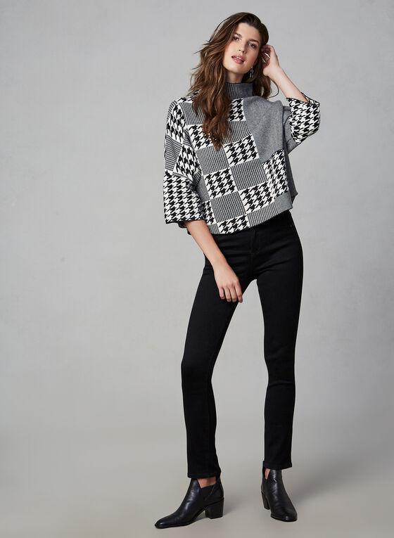 Gabby Isabella - Pull surdimensionné à motifs variés, Noir, hi-res