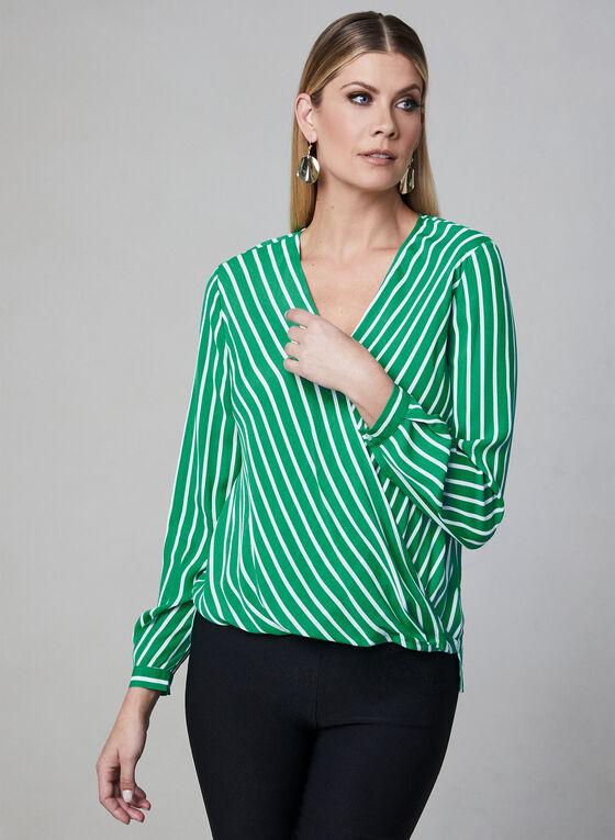 Chiffon Wrap Blouse, Green