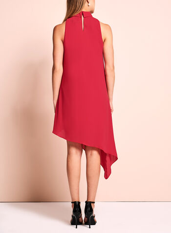 Maggy London - Asymmetric Choker Dress, Red, hi-res
