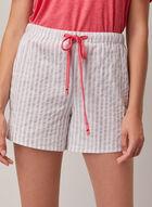 Printed Drawstring Shorts, Grey