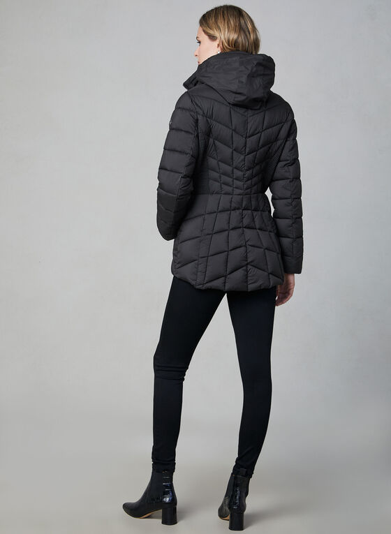 Bernardo - Quilted Packable Coat, Black, hi-res
