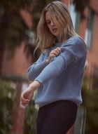Textured Button Detail Sweater, Blue