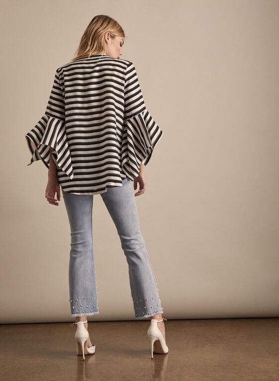 Joseph Ribkoff - Striped Single-Button Jacket, Black