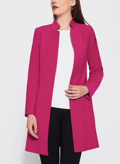Tahari - Inverted Notch Collar Jacket, Pink, hi-res