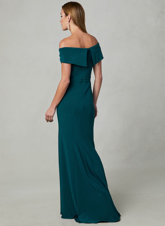 BA Nites - Off The Shoulder Dress, Green, hi-res