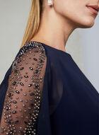BA Nites - Embellished Chiffon Dress, Blue, hi-res