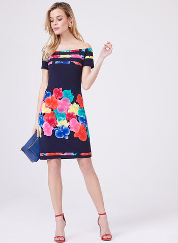 Frank Lyman - Floral Print Off The Shoulder Dress, Multi, hi-res