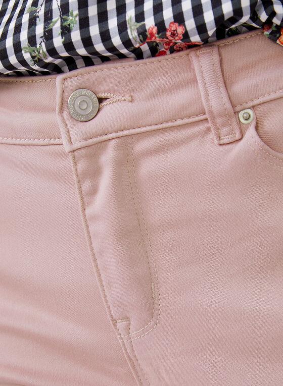 Slim Leg Denim Capris, Pink, hi-res