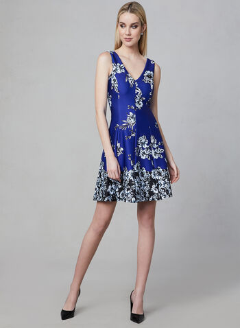 Kensie - Fit & Flare Dress, Blue, hi-res