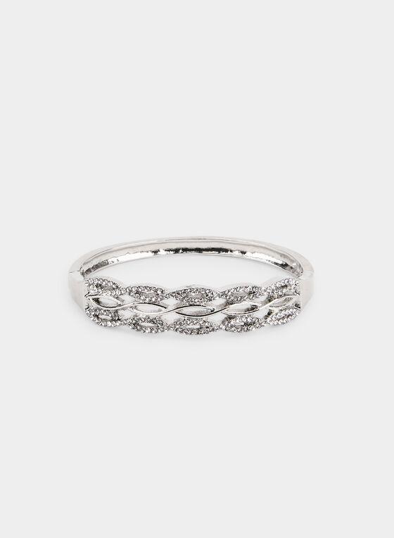 Bracelet tressé métallisé, Argent