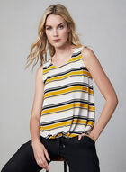 Stripe Print Sleeveless Top, Yellow