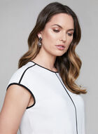 Contrast Detail Top, Off White, hi-res