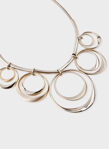 Multi-Ring Necklace, Gold, hi-res