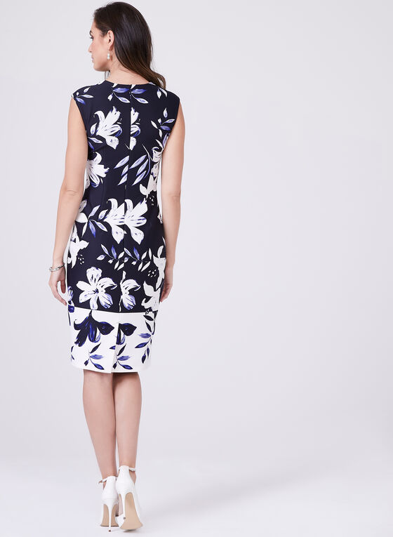 Vince Camuto - Floral Sheath Dress, Blue, hi-res
