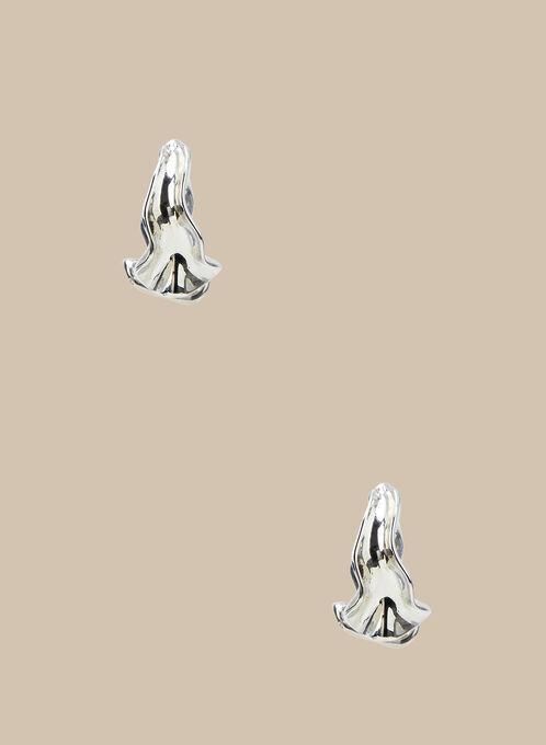 Créoles en métal ondulé, Argent