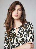 Frank Lyman - Leopard Print Dress, Brown, hi-res