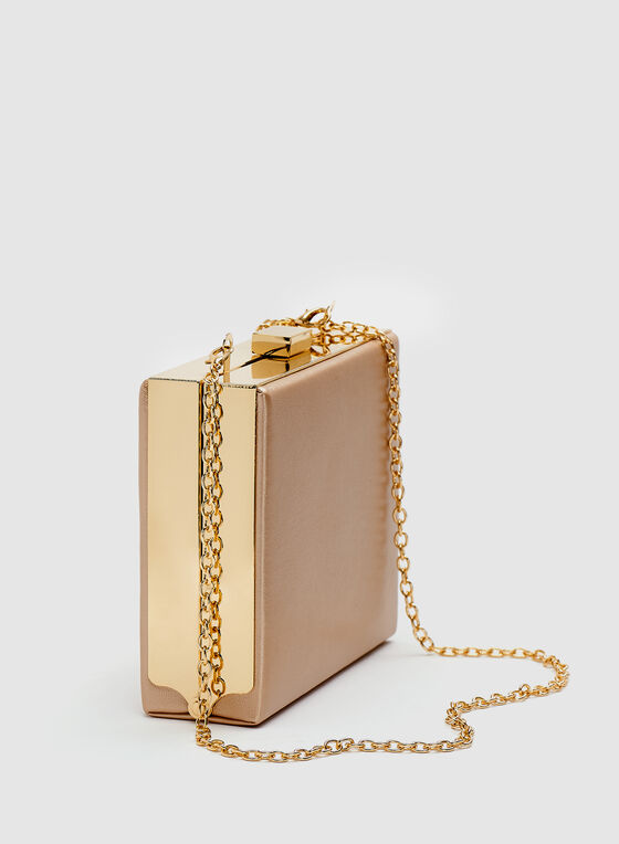 Rectangular Box Clutch, Pink, hi-res