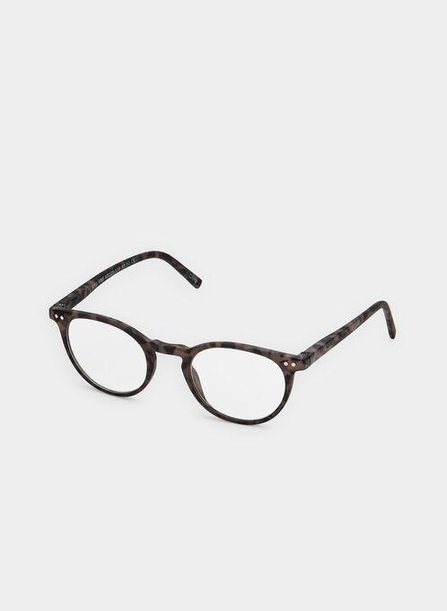 Matte Frame Glasses, Grey, hi-res