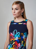 Joseph Ribkoff - Floral Print Dress, Blue, hi-res