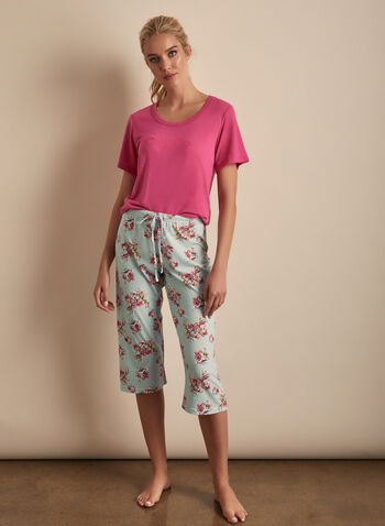 Comfort & Co. - Ensemble pyjama floral, Rose,  printemps été 2020, pyjama, Comfort & Co