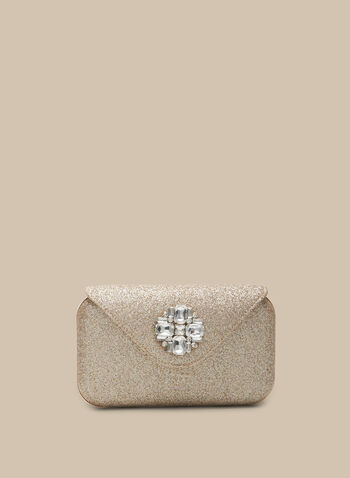 Glitter Box Clutch, Gold,  clutch, box clutch, metallic, glitter, glitter clutch, crystal, spring 2020, summer 2020