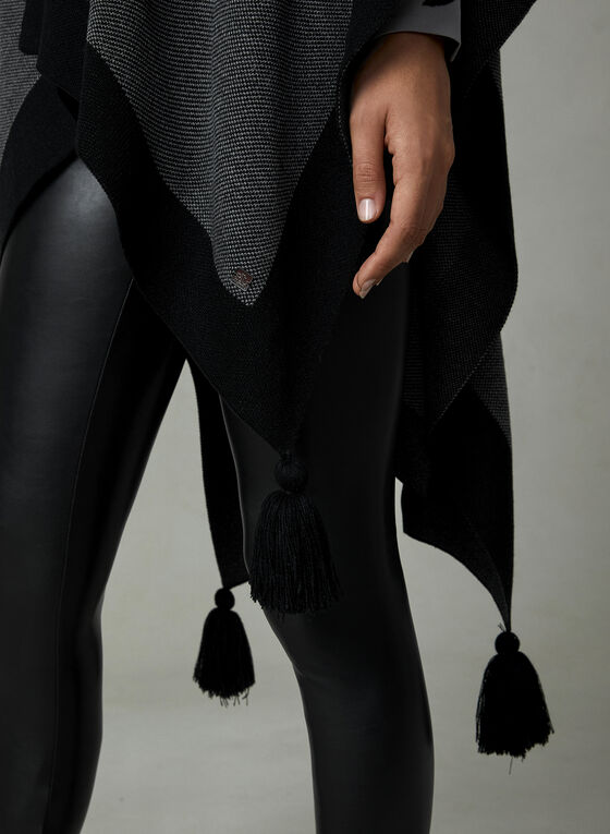 Ralph Lauren - Wrap Knit Poncho, Grey, hi-res