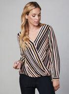 Stripe Print Wrap Blouse, Multi, hi-res