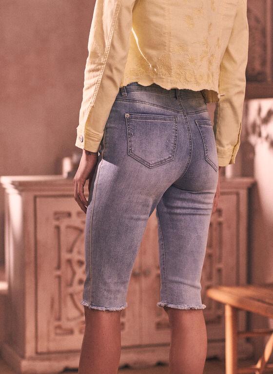 Bermuda Denim Shorts, Blue