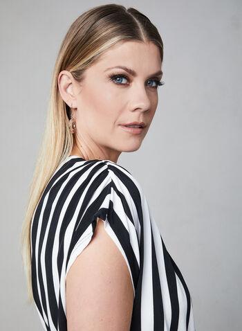 Sandra Darren - Stripe Print Jumpsuit, Black, hi-res,  belted, wide leg, spring 2019
