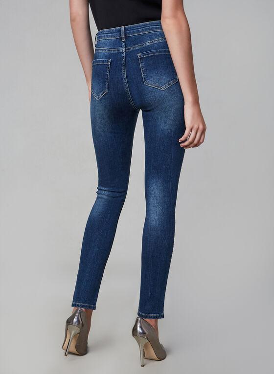 Frank Lyman - Rhinestone Detailed Jeans , Blue, hi-res