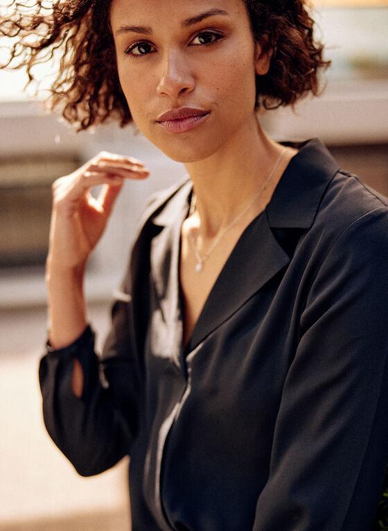 Lapel Collar Tunic, Black