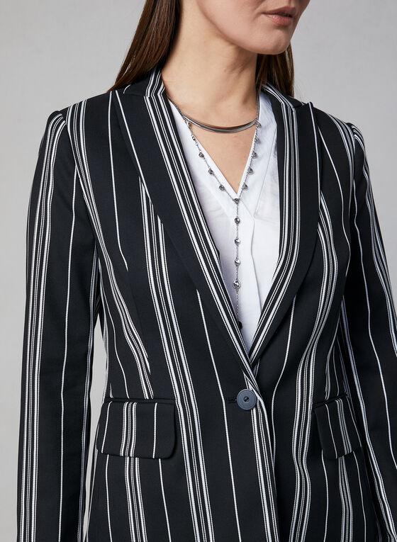 Vince Camuto - Stripe Print Blazer, Black, hi-res