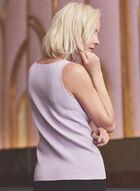 Haut sans manches en tricot côtelé, Violet