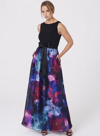 Ellen Tracy - Floral Print Organza Gown, , hi-res