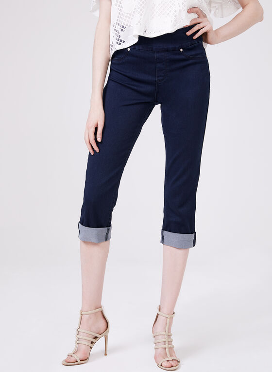 Carreli Jeans – Pull On Denim Capri Pants, Blue, hi-res