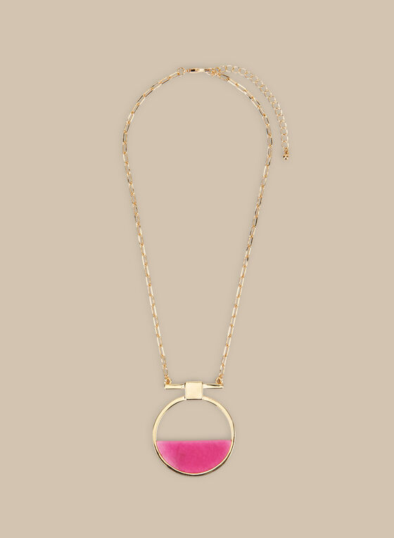 Short Pendant Necklace, Pink