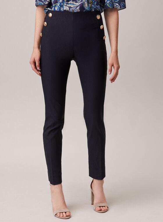 Pull-On Slim Leg Pants, Blue