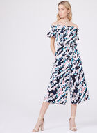 Clover and Sloane - Abstract Print Cold Shoulder Jumpsuit, Multi, hi-res