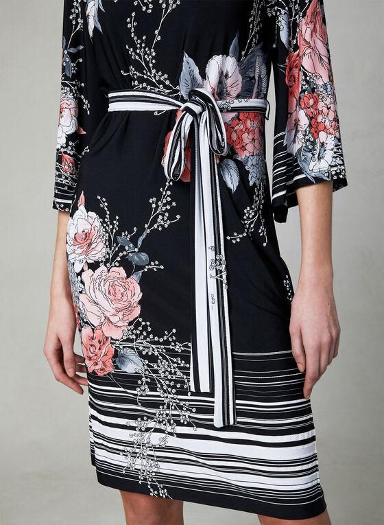 Sandra Darren - Floral Print Dress, Black, hi-res